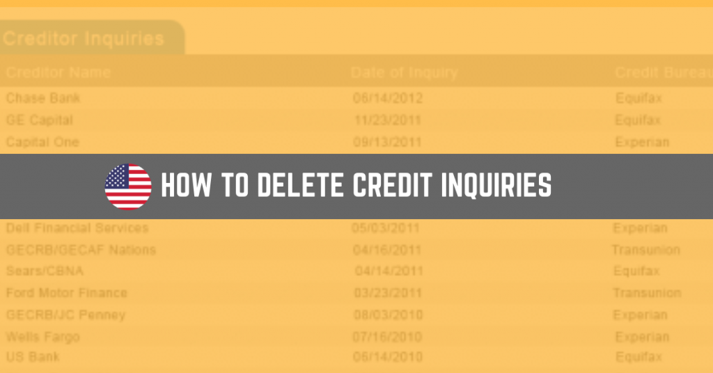 how to delete credit inquiries